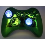 Lighted  Chrome  Green  Modded Controlle w/11 rapid fire Halloween Offer!!!!!!