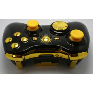 Black and Gold Chrome  Modded Controlle  w/Rapid 11 mods
