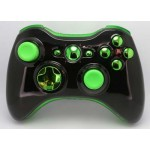 Black and Green  Chrome  Modded Controlle  w/Rapid 11 mods