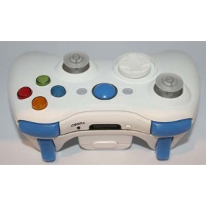 All White Lighted  Modded Controlle  w/Rapid Fire